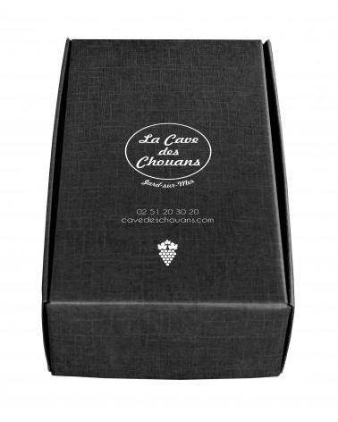 Coffret Noir personnalisé pour 2 bouteilles (ou composition gourmande)