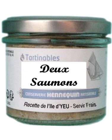 Tartinable aux deux saumons - Conserverie Hennequin - 100G
