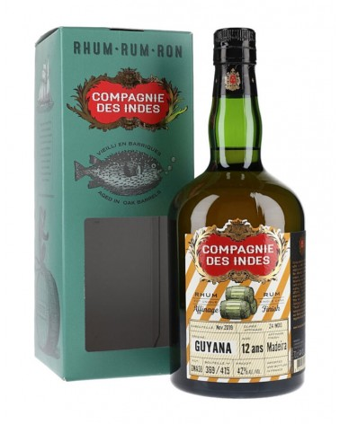 Guyana 12 ans Finish Madeira 42% - Compagnie des Indes - 70cl