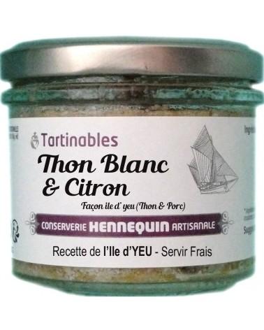 Tartinable thon blanc au citron - Conserverie Hennequin - 100gr