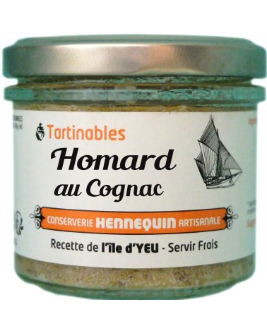 Tartinable Homard au Cognac - Conserverie Hennequin - 100gr