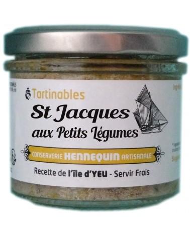 Tartinable Saint Jacques aux petits légumes- Conserverie Hennequin - 100gr